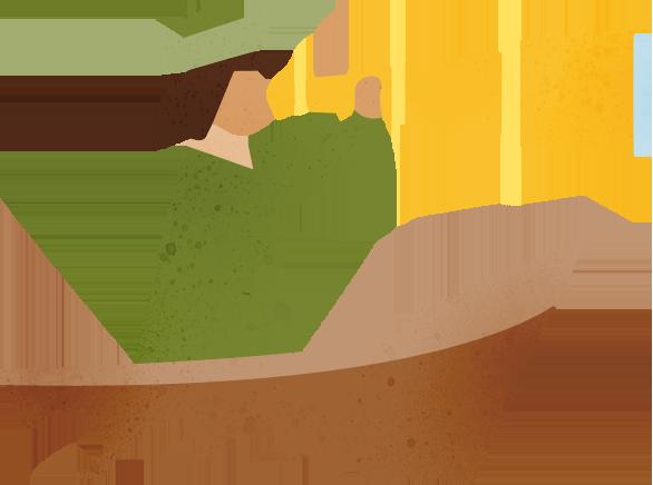 Seafarer with spyglass